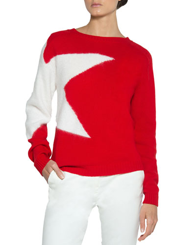 Star Wool-Mohair Pullover Sweater