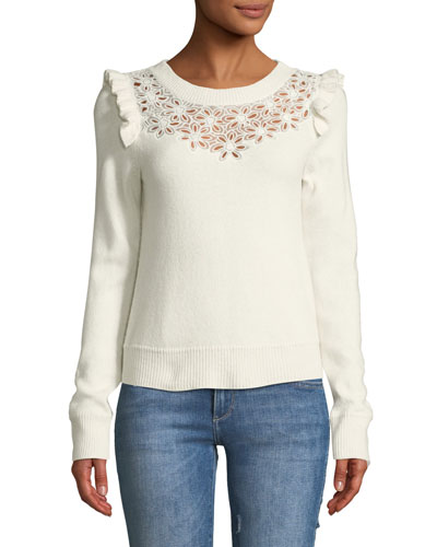 Emilie Floral Embroidered Pullover Sweater