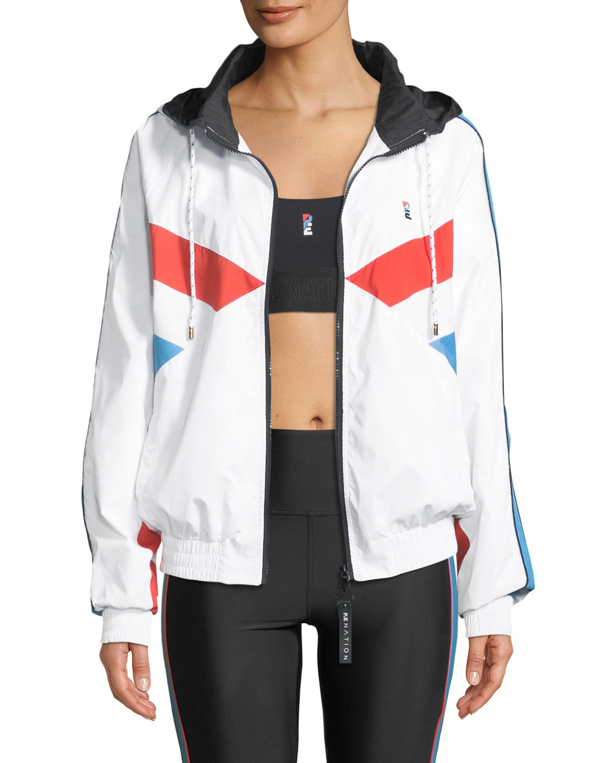 The Ruck Hooded Paneled Shell Jacket, White