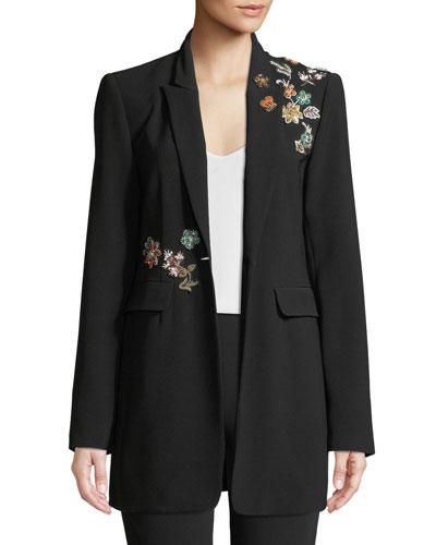 Venus Embellished Single-Button Jacket