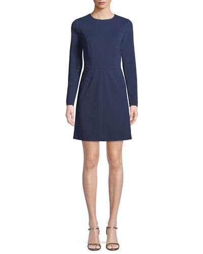 New Capreena Long-Sleeve Jersey A-line Dress