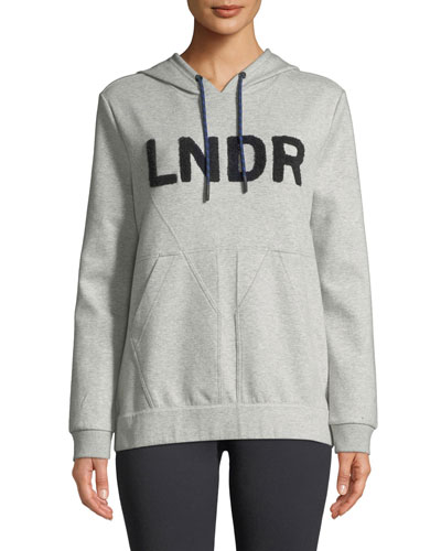 College Hooded Boucle-Logo Jersey Sweatshirt