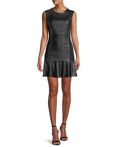 87ef30382f Back Zip Leather Dress