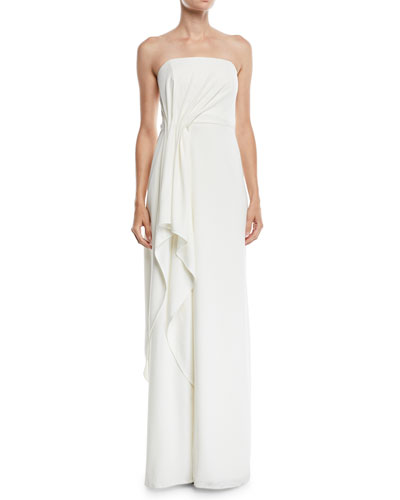 065bbe8278d6 Quick Look. Halston Heritage · Strapless Crepe Gown ...