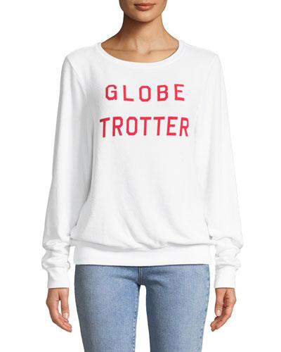 Globe Trotter Graphic Crewneck Sweatshirt