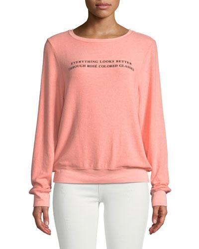 Rose Glasses Graphic Crewneck Sweatshirt