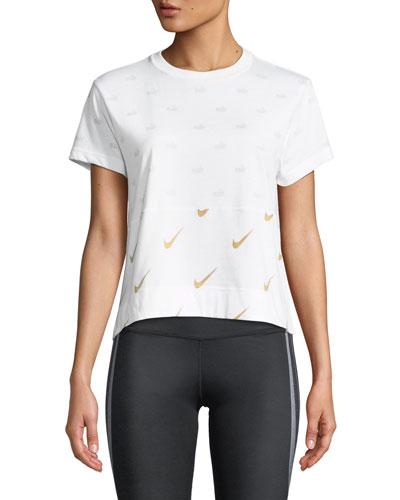 Metallic Logo-Print T-Shirt