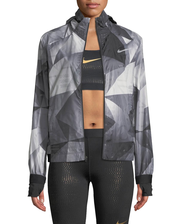 Shield Flash Convertible Running Jacket in Black