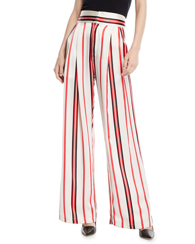 e399d3309c Quick Look. Maggie Marilyn · Love Unconditionally Striped Silk Wide-Leg  Pants