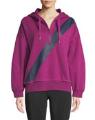 adidas by Stella McCartney Yoga Comfort Striped Quarter-Zip