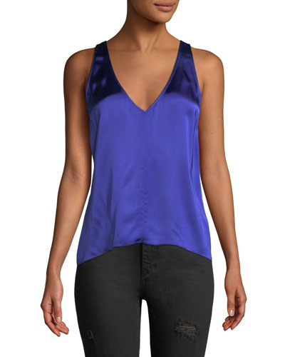 Fluid Satin V-Neck Tank