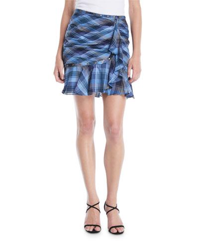 425d4c133a6c Quick Look. Veronica Beard · Parris Plaid Ruffle Tulip Skirt
