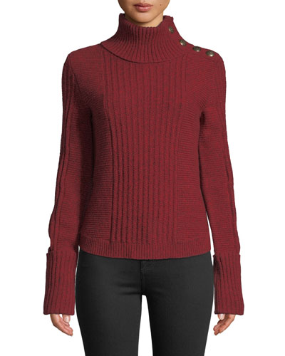 20910a361 Imported Ribbed Turtleneck Sweater