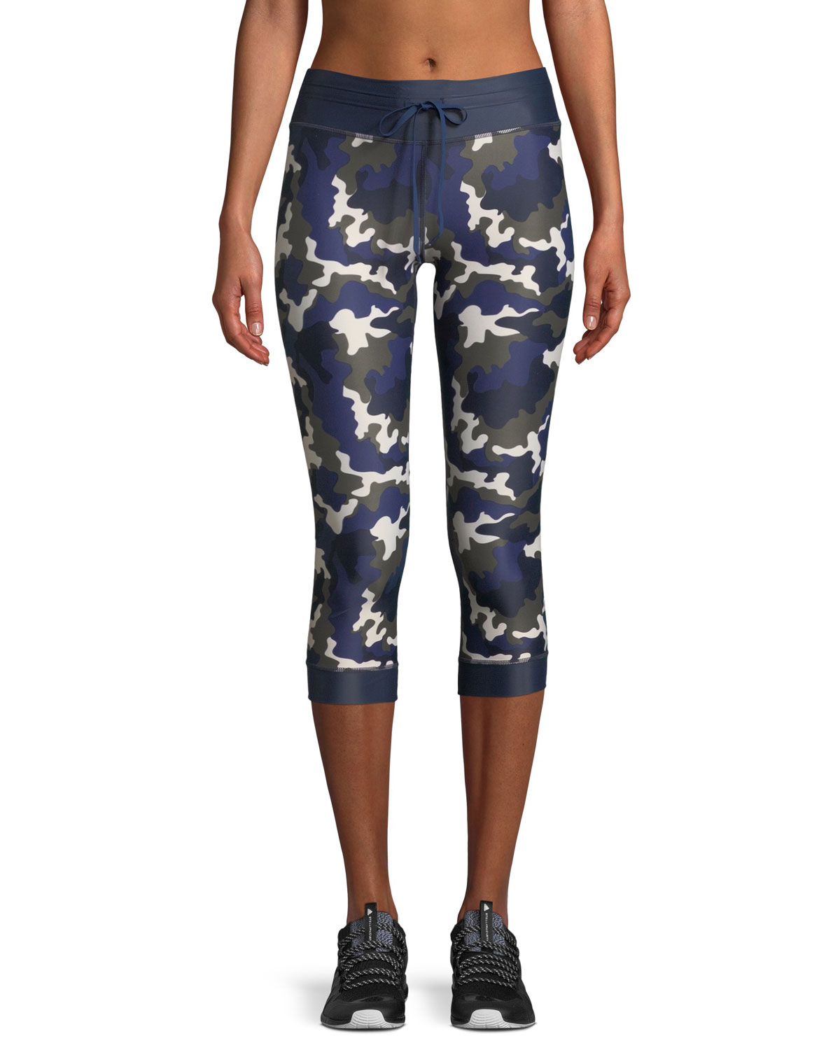 Nyc Camo-Print Cropped Leggings in Multicolour