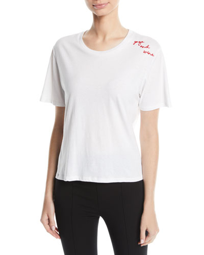 Yoga And Wine Scoop-Neck Tee