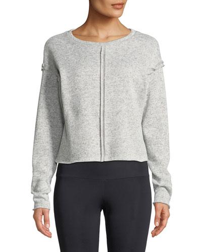 Raw-Seam Crewneck Sweatshirt