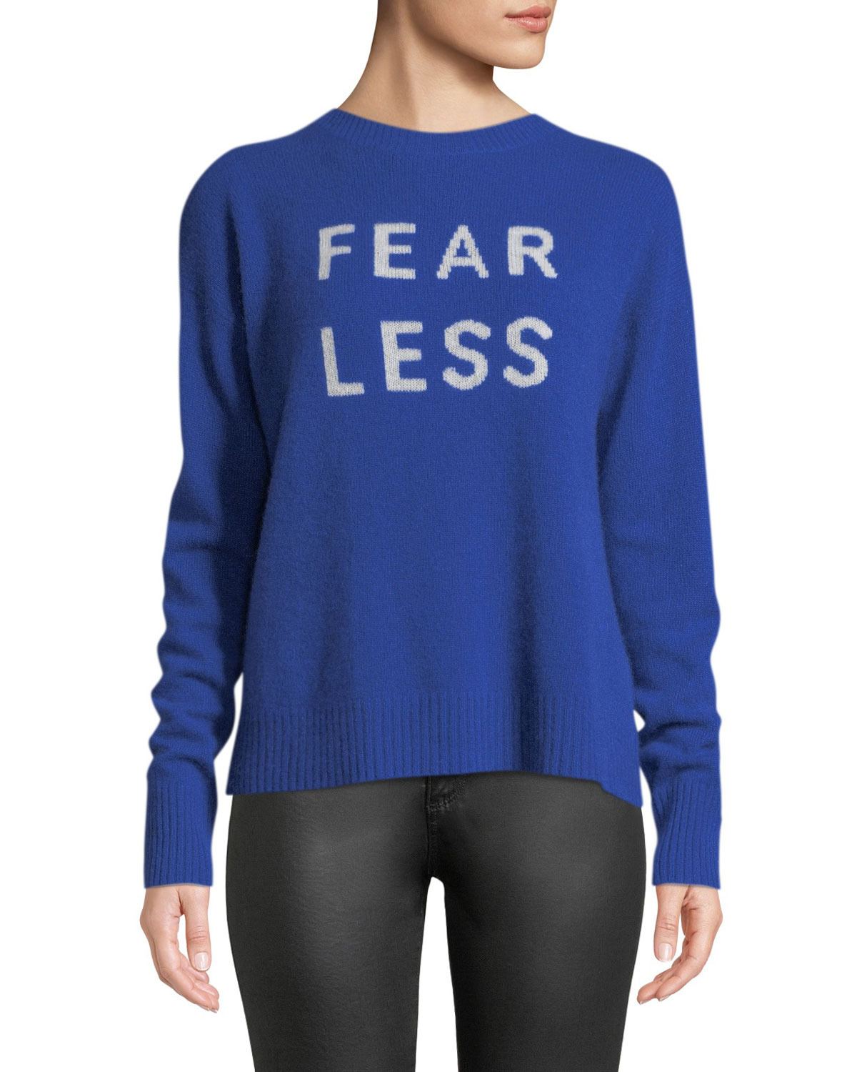 Fear Less Cashmere Pullover Sweater