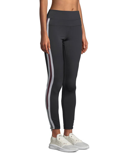 Side-Stripe High-Waist Activewear Track Tights