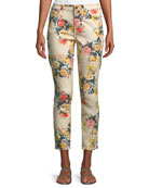 Jen7 by 7 for All Mankind Floral-Print Ankle