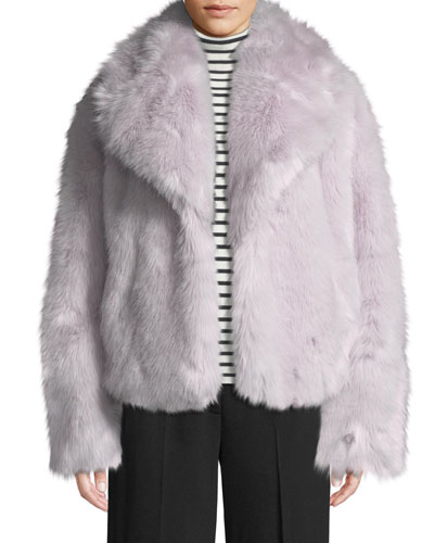 Grant Long-Sleeve Faux-Fur Jacket