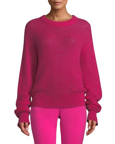Riva Mohair-Blend Crewneck Sweater