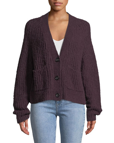 Cleveland Button-Front Alpaca-Blend Cardigan