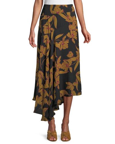 84445c1781d5 Patterned Silk Skirt   Neiman Marcus