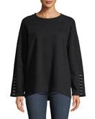 PAIGE Manon Crewneck Pullover Sweatshirt