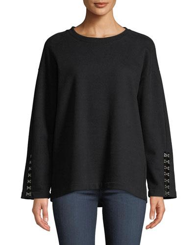 Manon Crewneck Pullover Sweatshirt