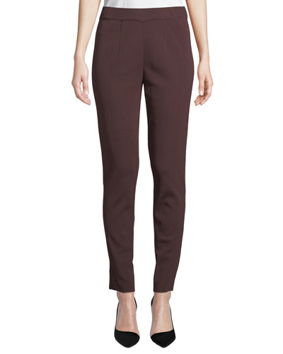 Easy Knit Straight-Leg Pants