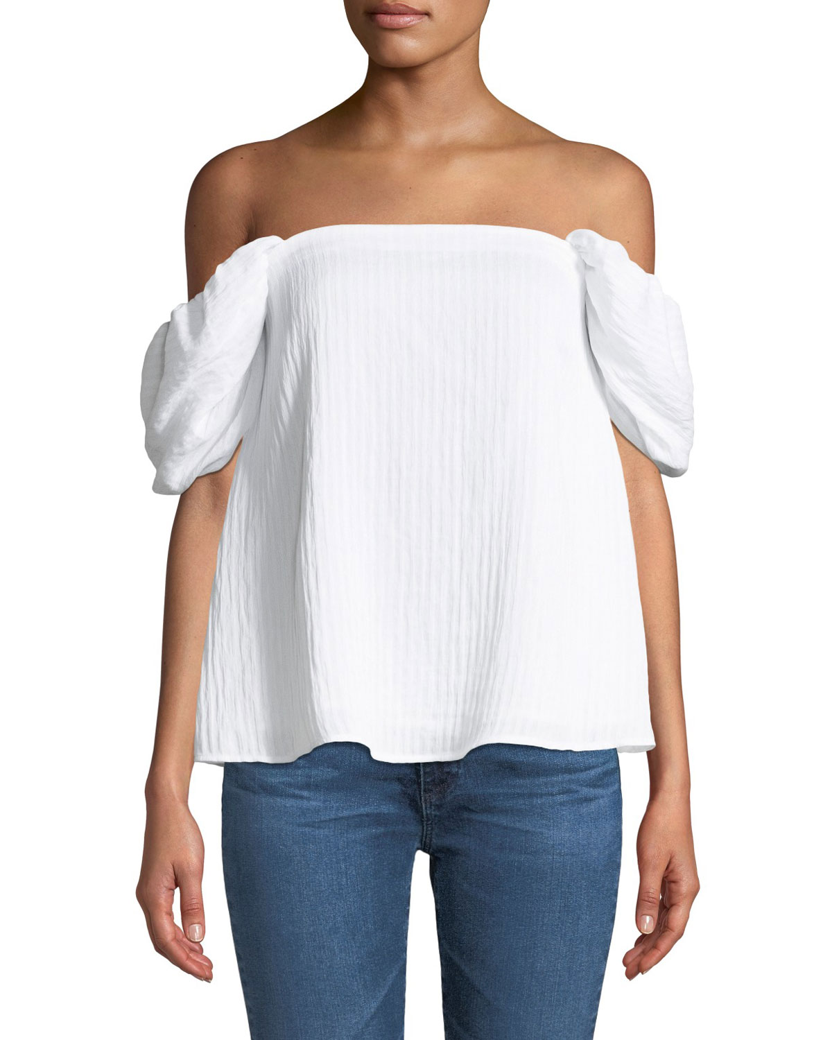 Malaina Off-the-Shoulder Puff-Sleeve Top