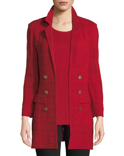 bc1c29d61e7c1 Quick Look. Misook · Plus Size Textured Knit Jacket ...