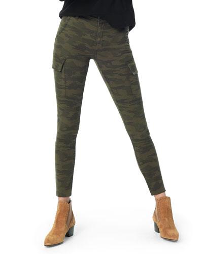 The Charlie Raw-Hem Skinny Camo Cargo Jeans
