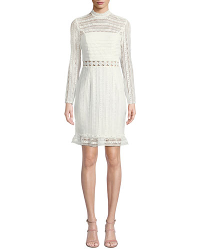 ad78482ed98 Quick Look. Bardot · Vivian Splice High-Neck Lace Dress. Available in Ivory