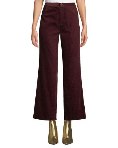 Daily High-Rise Straight-Leg Velvet Jeans