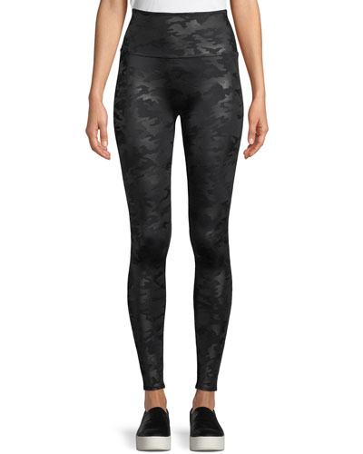 d7cbe1d0b126a Quick Look. Spanx · Camo-Print Faux-Leather Leggings. Available in Black  Pattern