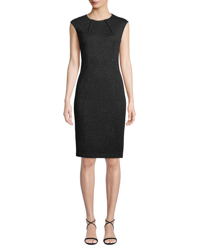 52a6988e Black Jacquard Cocktail Dress | Neiman Marcus