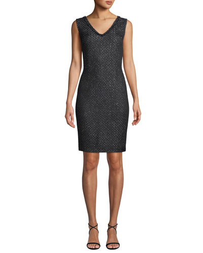 7e01becd8b945 Black Rayon Mini Dress | Neiman Marcus
