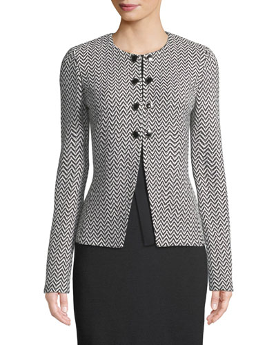 Mod Herringbone Knit Jacket