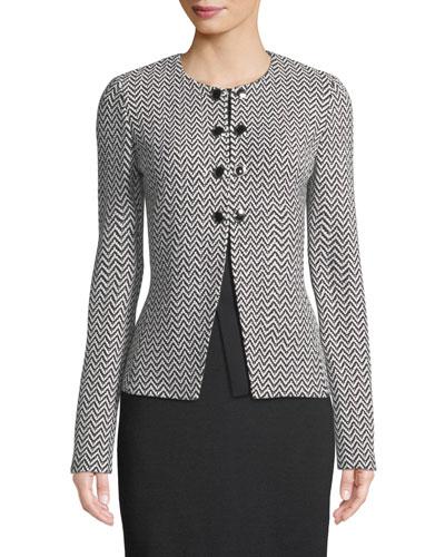 Mod Herringbone Knit Jacket