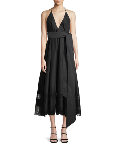 568564899236 Womens Deep V Dress