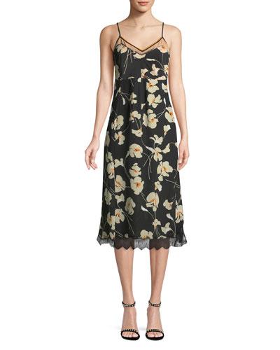 Floral V Neck Cami Dress