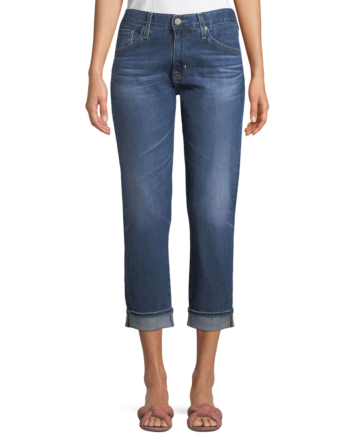 The Ex-Boyfriend Distressed Slim Jeans, 12 Years Aroma