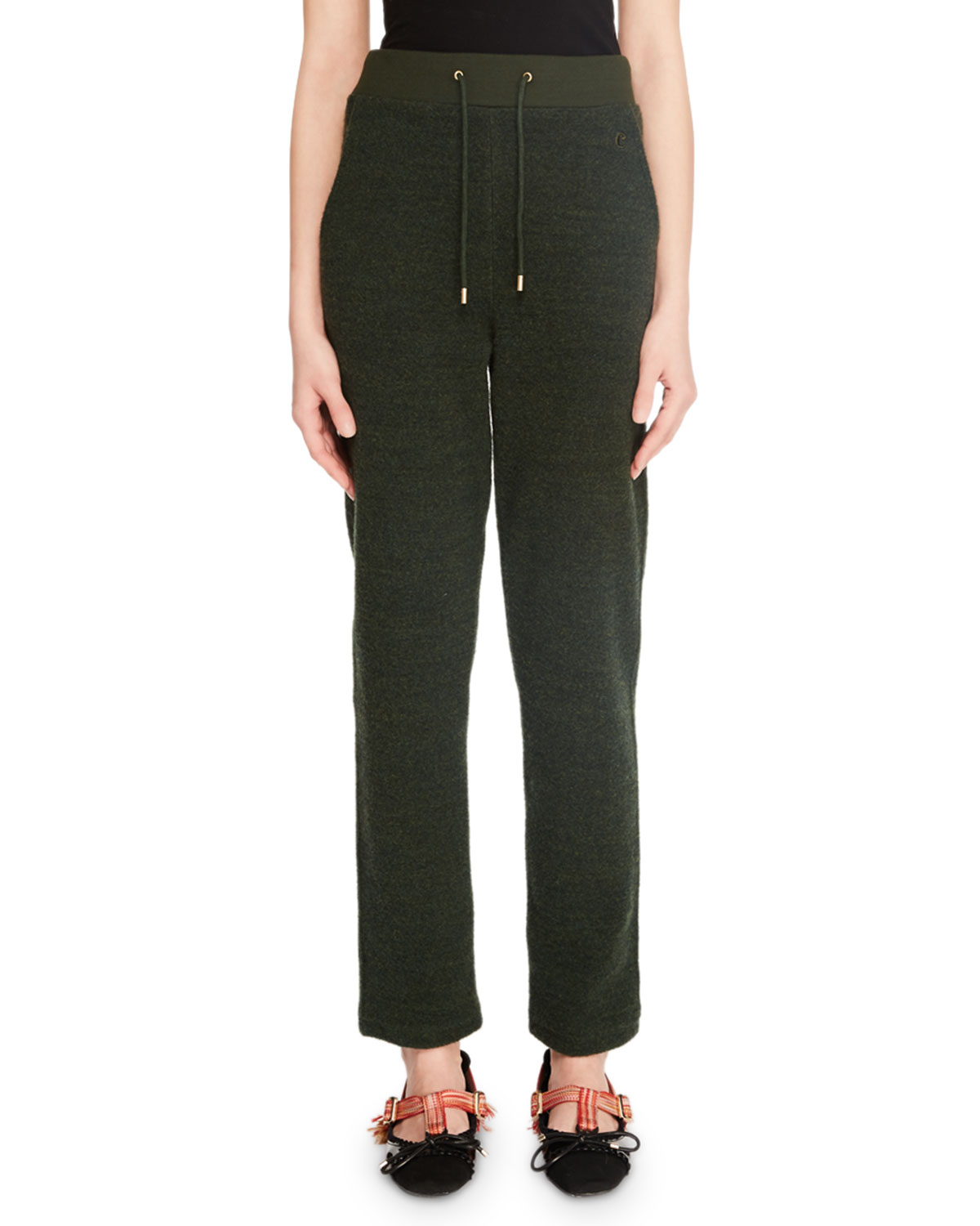 Straight-Leg Drawstring Lounge Pants