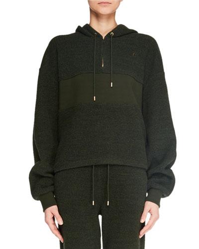 Long-Sleeve Quarter-Zip Pullover Hoodie