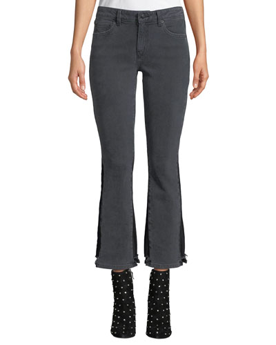 e8586033a8f11 Quick Look. Derek Lam 10 Crosby · Gia Mid-Rise Cropped Flare-Leg Jeans