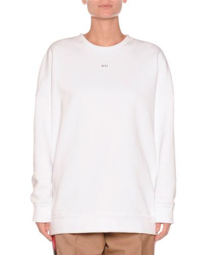 Crewneck Sequin-Embroidered Sweatshirt