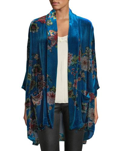dbc430c82c4 Quick Look. Johnny Was · Plus Size Vivian Printed Velvet Kimono Jacket