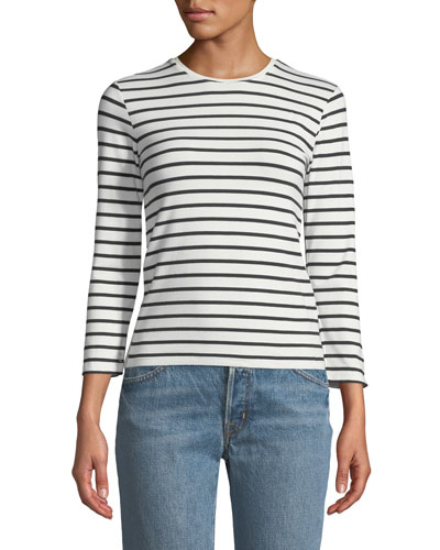 Striped Jersey Long-Sleeve Tee