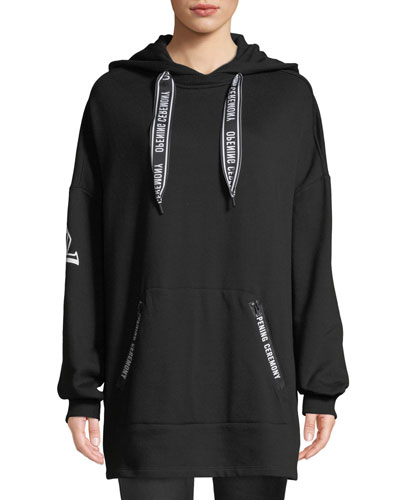 Logo Pullover Poncho Hoodie